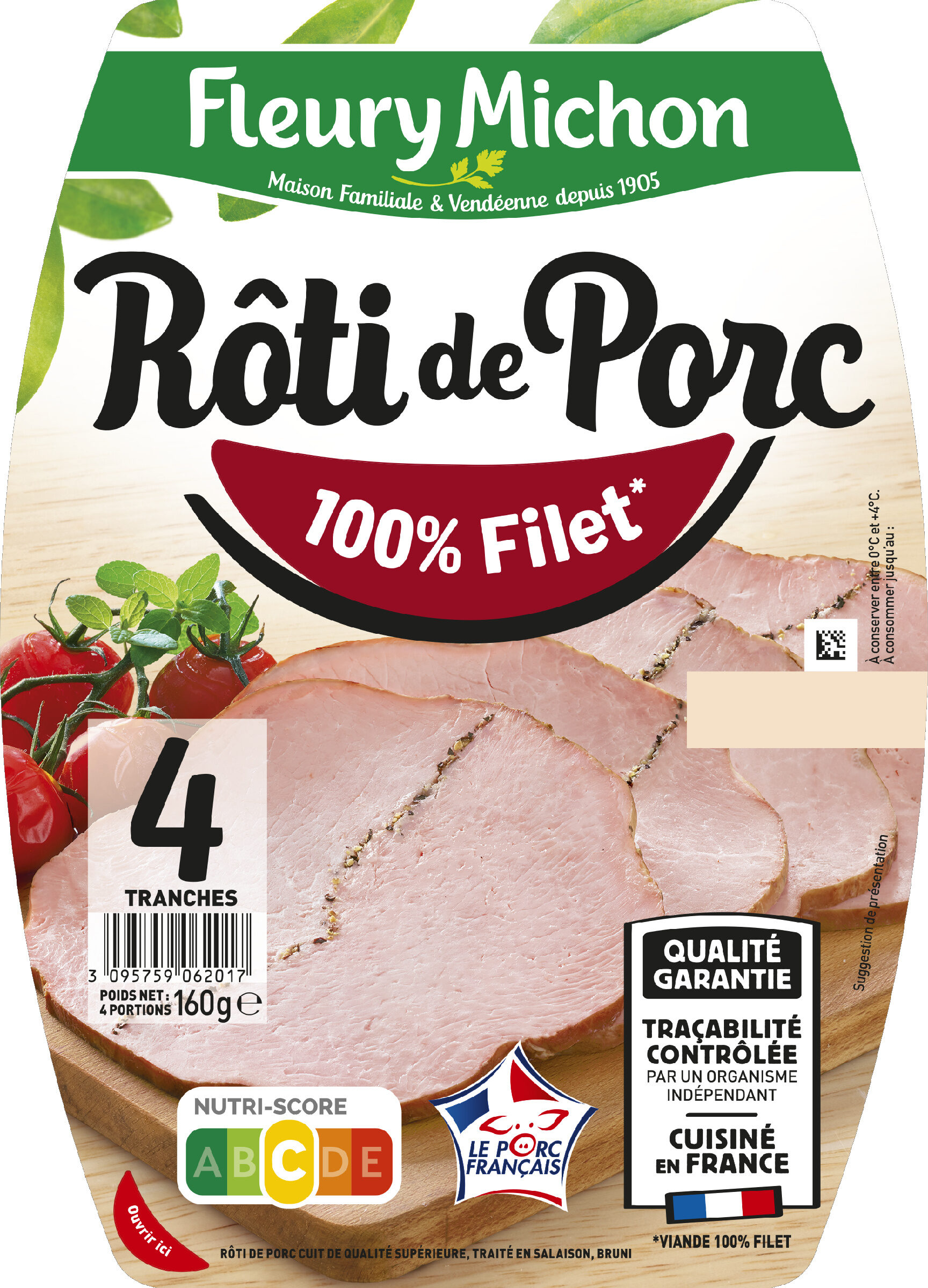 Rôti de Porc - 100 % filet* - Product - fr