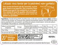 Pastrami de Boeuf Fumé - 6 tranches fines - Produit - fr