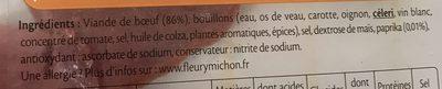 Pastrami de Boeuf Fumé - 6 tranches fines - Ingrédients - fr