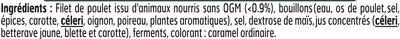 Blanc de Poulet J'AIME - 2 tr. - Ingrediënten - fr