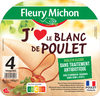 Blanc de Poulet J'AIME - 4 tranches - Product