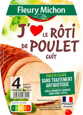Rôti de poulet J'AIME - 4 tranches - Produit