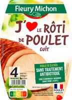 Rôti de poulet J'AIME - 4 tranches - Produit - fr