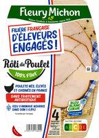 Rôti de poulet FILIERE FRANCAISE D'ELEVEURS ENGAGES - 4 tranches - Produit - fr