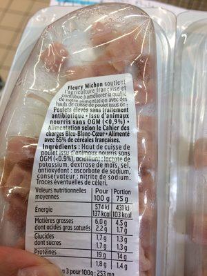 """Dés de poulet """"J'aime"""" - Ingrediënten - fr"""