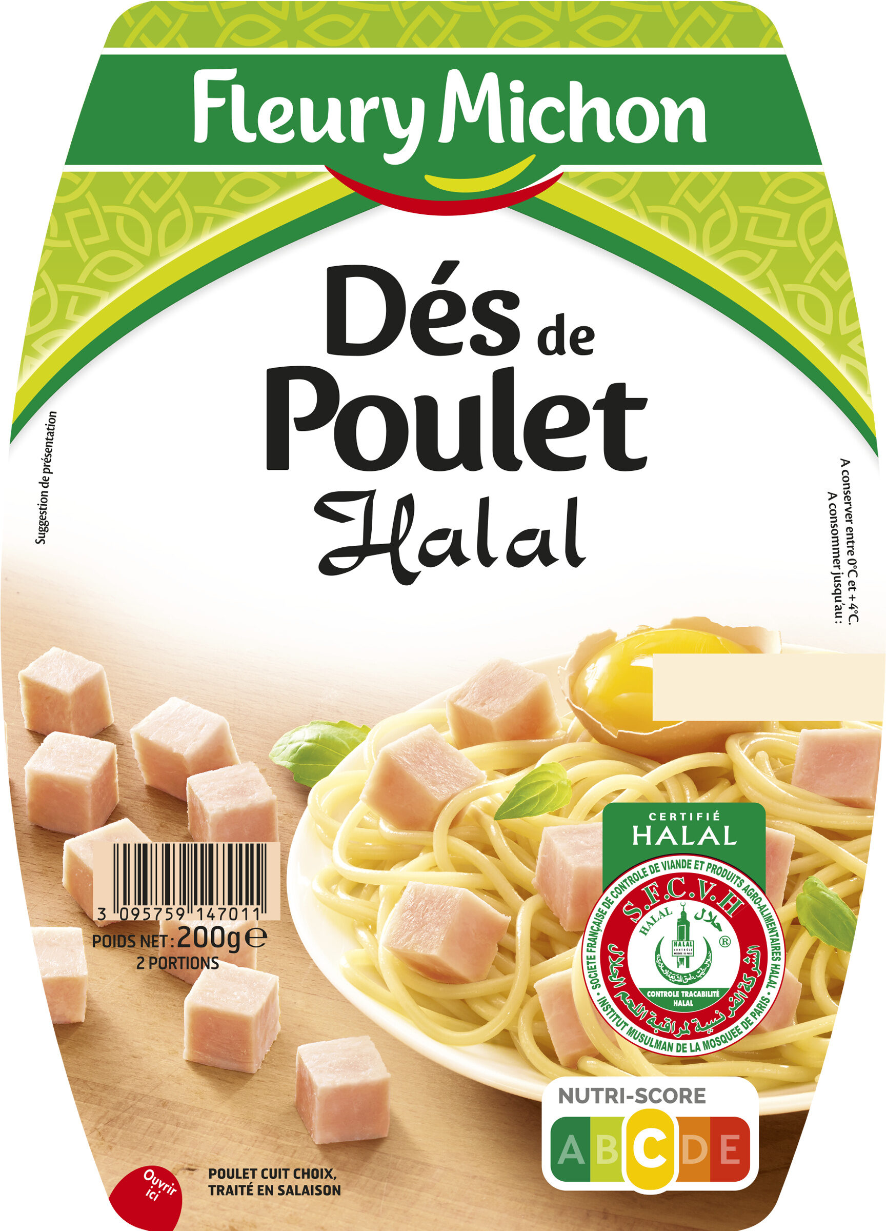 Dés de poulet Halal - Produkt - fr