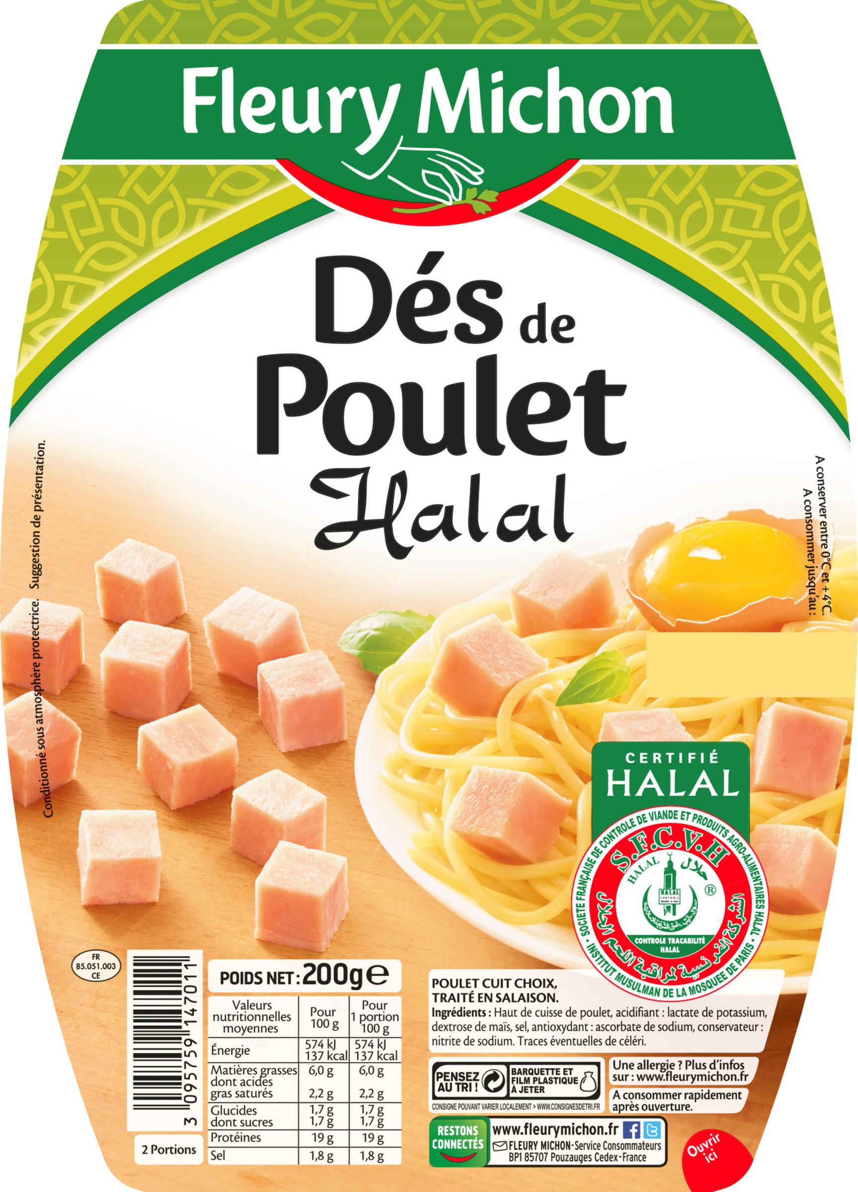 Dés de poulet Halal - Product