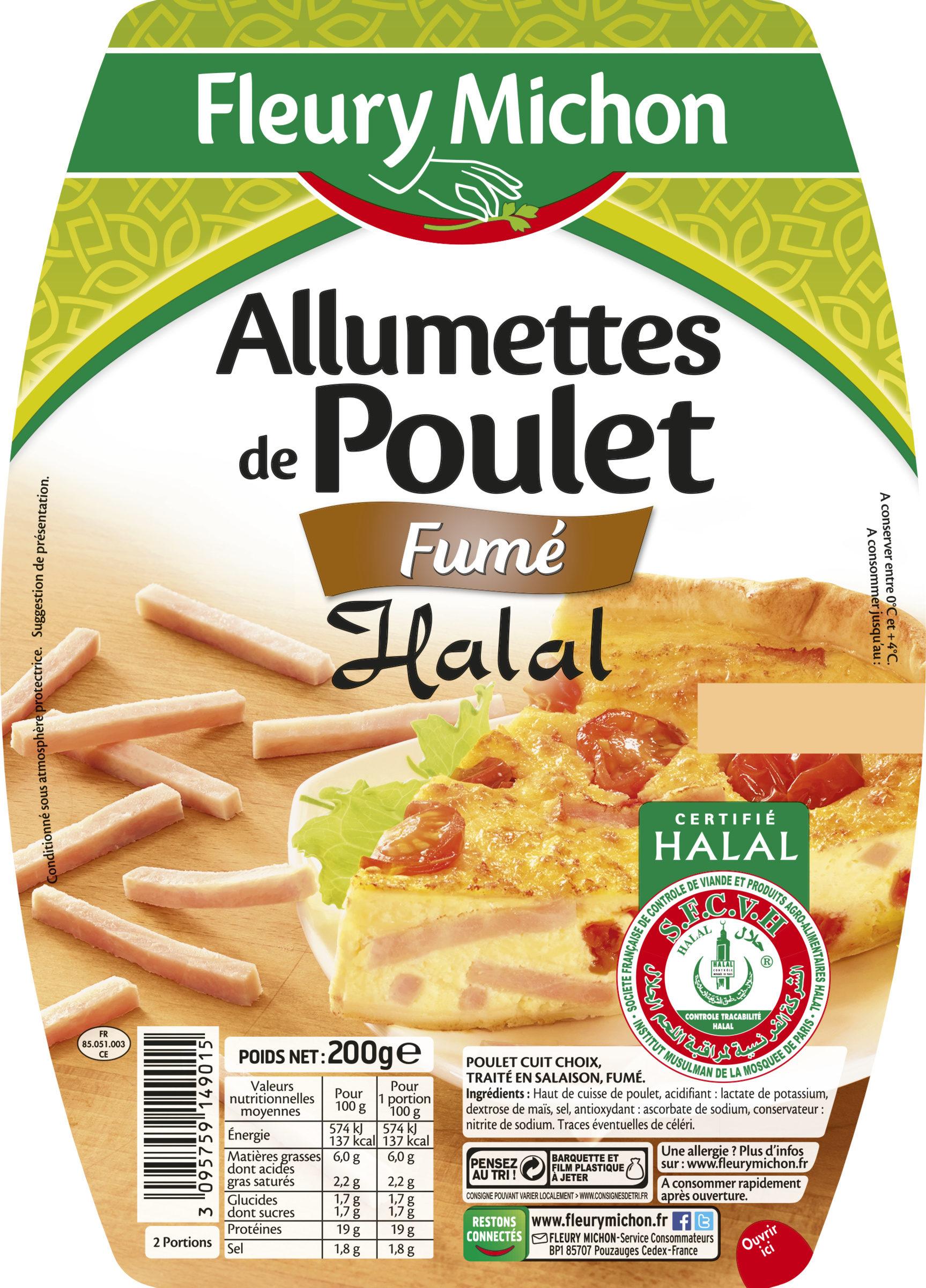 Allumettes de poulet fumées Halal - Product