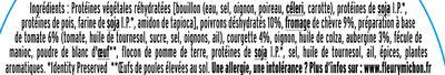 Pavés  Légumes du Soleil et  Chêvre - Ingrédients - fr