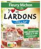 """Lardons nature """"J'AIME"""" - 25% sel* - 2x75g - Produit"""