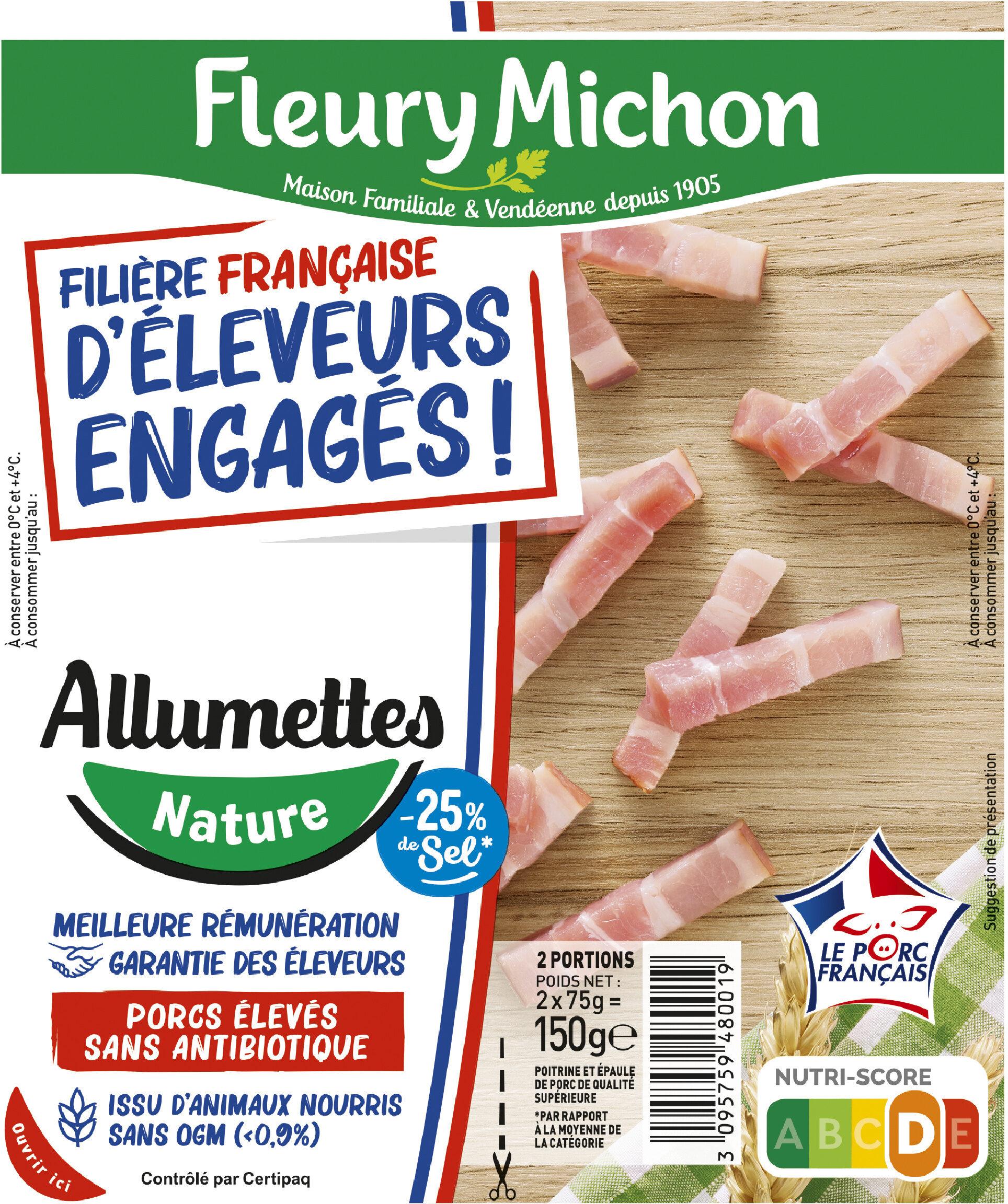 Allumettes - Nature -25% de sel* - FILIERE FRANCAISE D'ELEVEURS ENGAGES - Product - fr