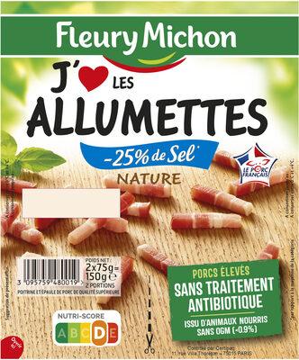 Allumettes J'aime Nature -25% de sel* -2*75g - Produit - fr