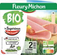 Le Supérieur avec couenne bio - 2 tranches - Product - fr