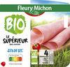 Jambon Supérieur Bio, -25% de sel* - 4 tranches fines sans couenne - Product