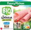 Jambon Supérieur sans couenne Bio, -25% de sel* - 4 tranches fines - Product