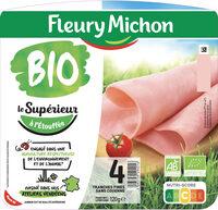 Jambon Supérieur sans couenne Bio - 4 tranches fines - Prodotto - fr
