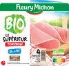Le jambon bio torchon, -25% sel* - 4 tranches fines sans couenne - Produit