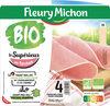 Le jambon bio torchon - 4 tranches fines sans couenne - Producto