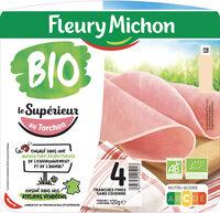 Le jambon bio torchon - 4 tranches fines sans couenne - Produit - fr