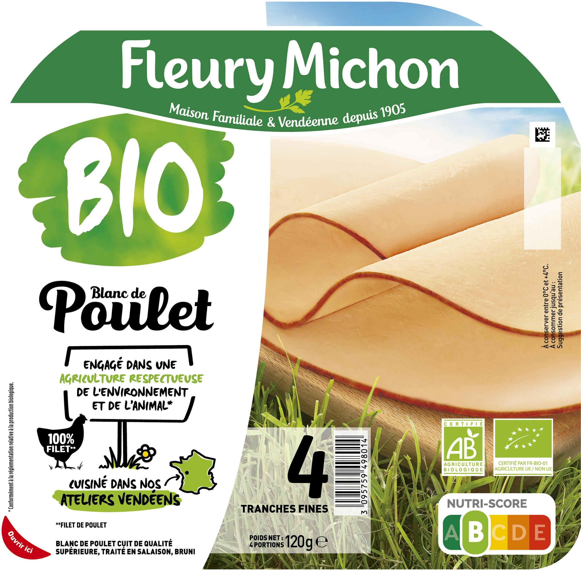 Blanc de poulet BIO - 4 tranches - Produit - fr