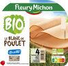 Blanc de poulet BIO, -25% sel* - 4 tranches - Product