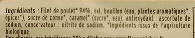 Blanc de poulet BIO - 4 tranches - Ingredienti - fr