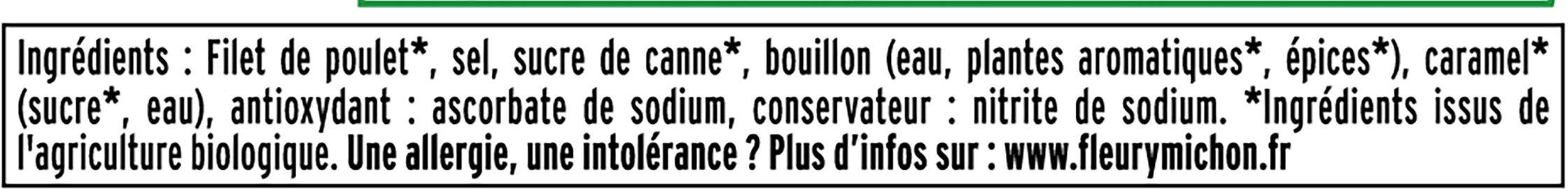 Blanc de poulet BIO - 4 tranches - Ingrédients - fr