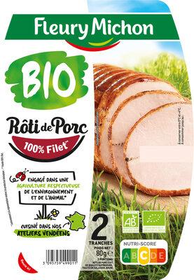 Rôti de porc cuit BIO - 2 tranches - Produit - fr