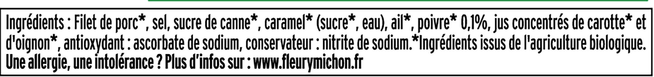 Rôti de porc cuit BIO - 2 tranches - Ingrédients - fr