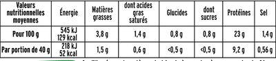 Rôti de porc cuit BIO - 2 tranches - Informations nutritionnelles - fr