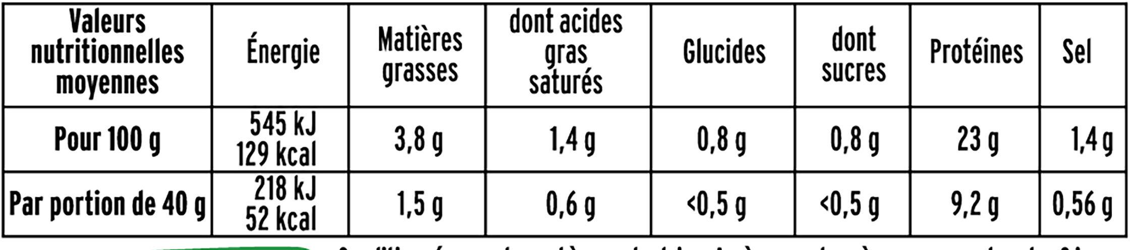 Rôti de porc cuit BIO -25% de sel* - 2 tranches - Informations nutritionnelles - fr