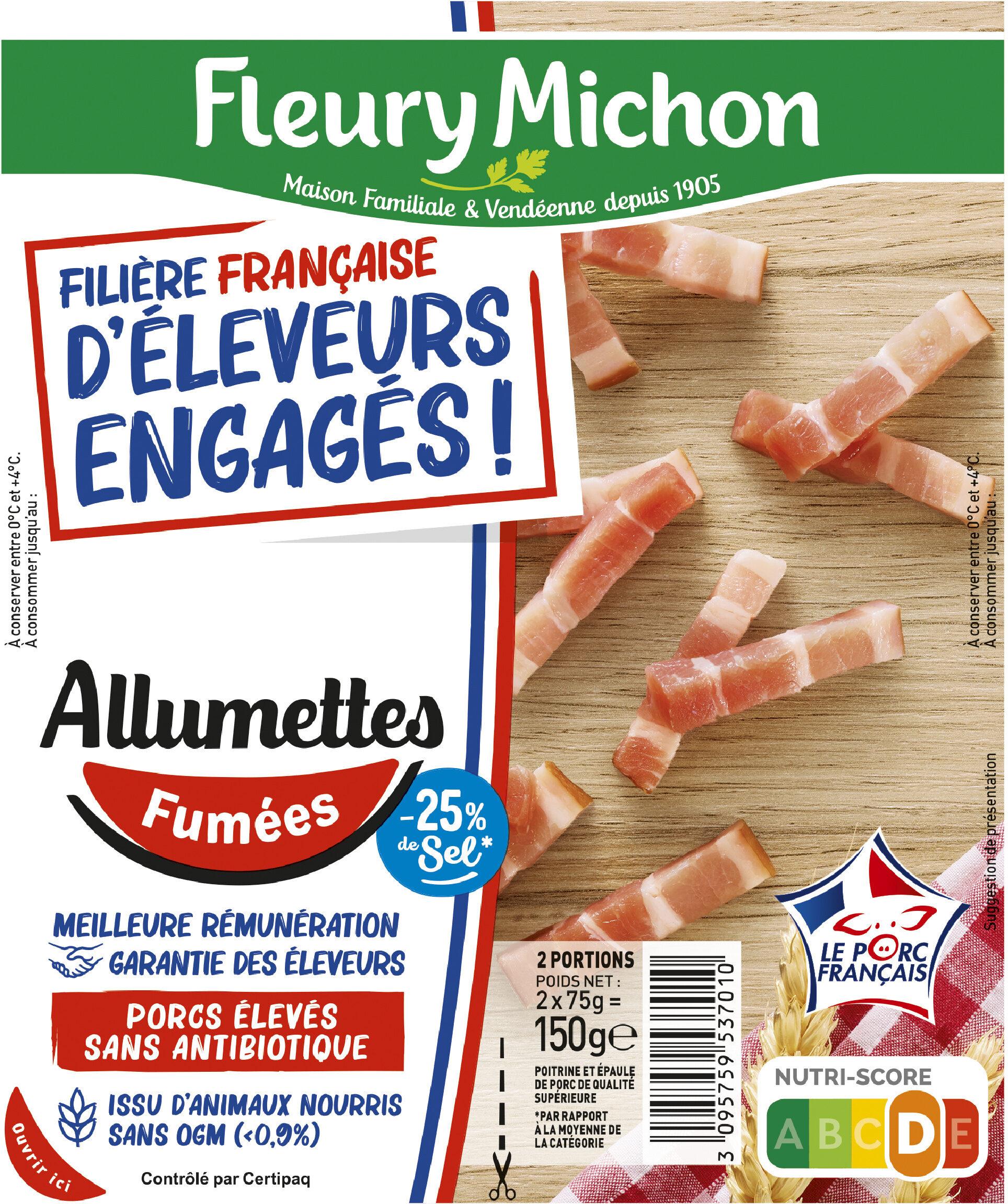 Allumettes - Fumées -25% de sel* - FILIERE FRANCAISE D'ELEVEURS ENGAGES - Produit - fr