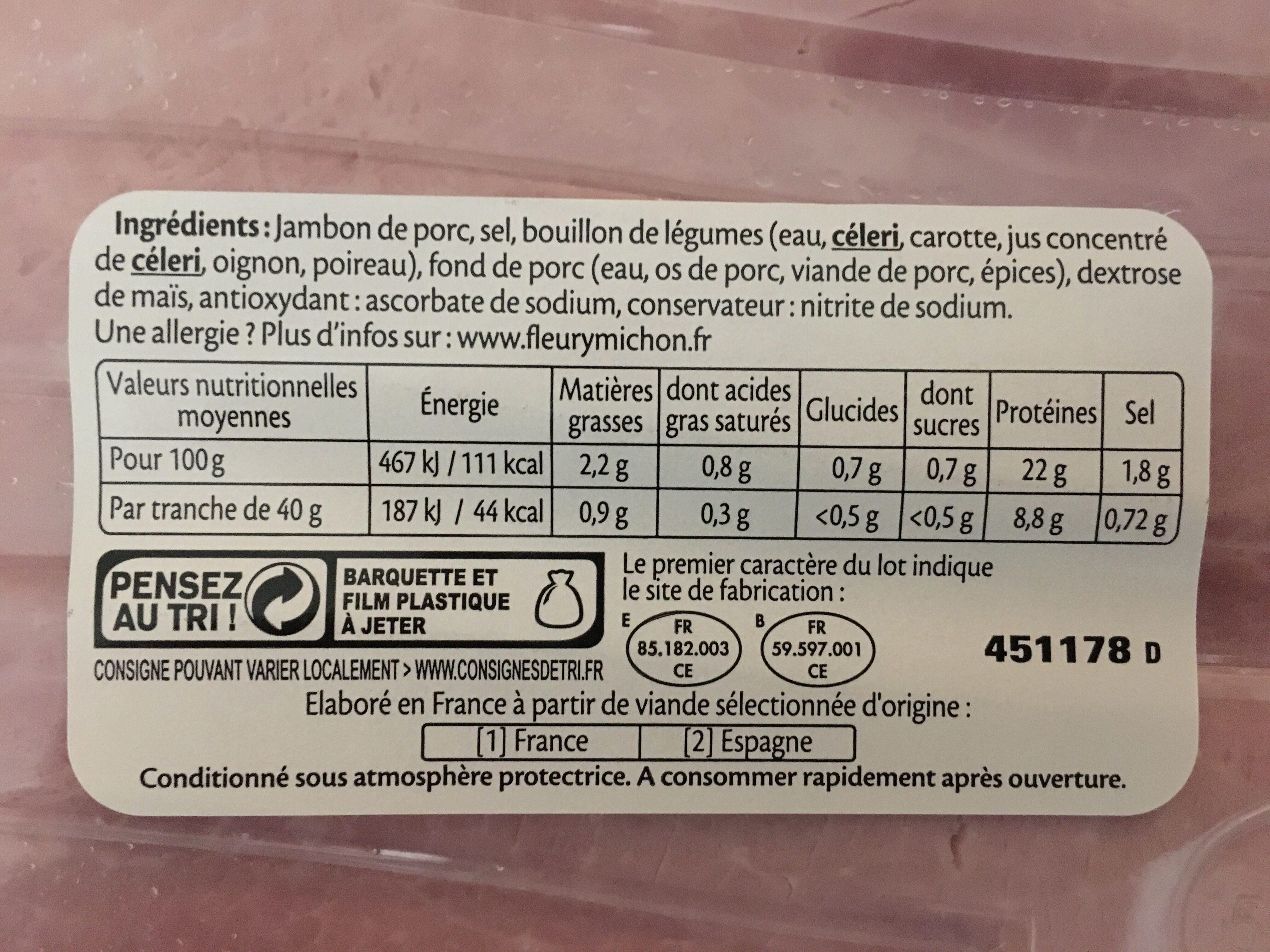 Le supérieur cuit à l'étouffée - Ingredients
