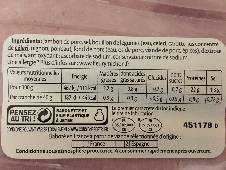 Le supérieur cuit à l'étouffée - Nutrition facts