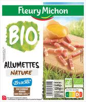 Allumettes  nature Bio - 25 % de sel* - 2x60g - Product - fr
