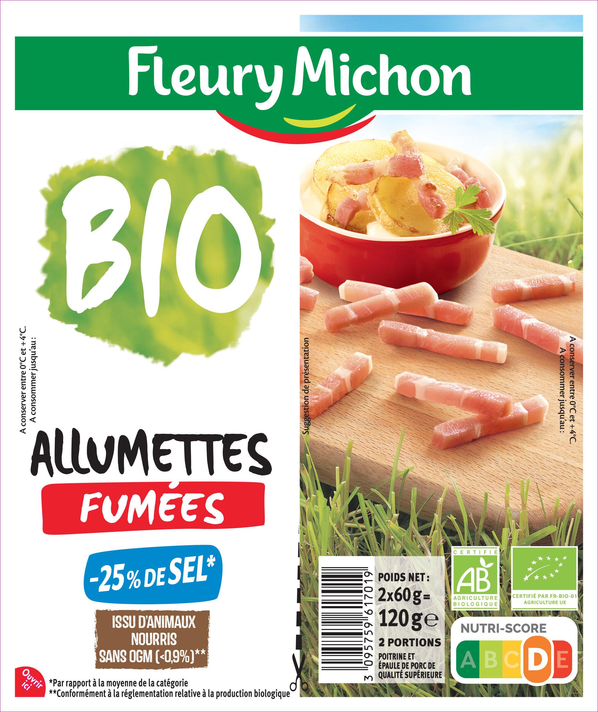 Allumettes fumées BIO -25% de sel* - Produit - fr