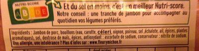 Le torchon, cuit à l'etouffee, -25% de sel - Ingredients