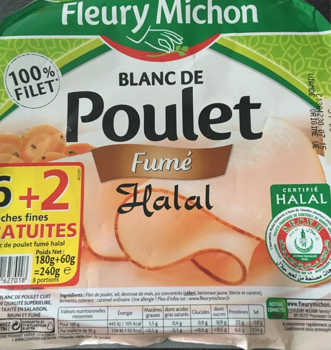 Blanc de poulet fumé halal - Product - fr
