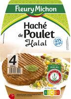 Le haché de poulet Halal - 25% de sel  - 4 pièces - Produit