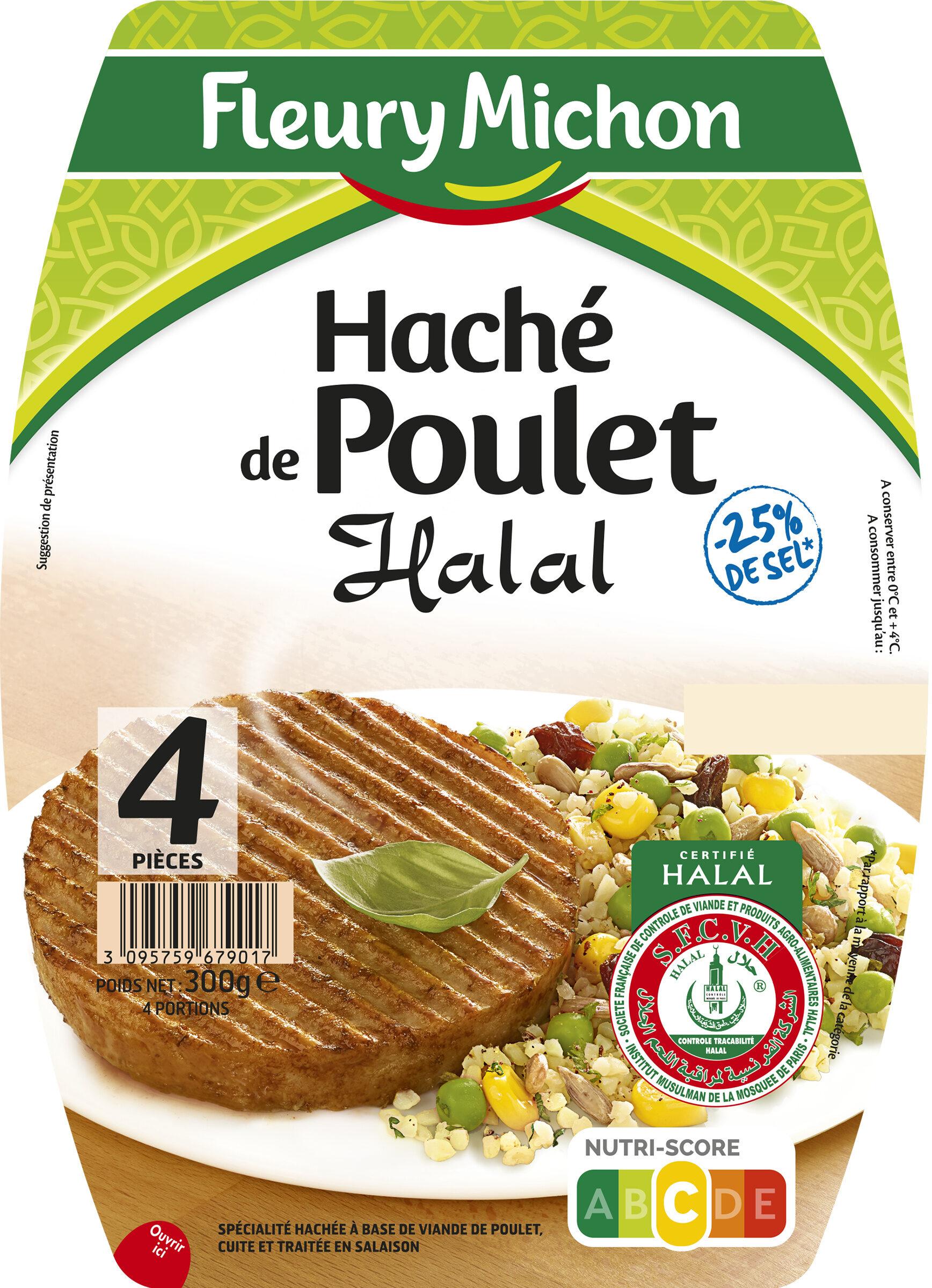 Le haché de poulet Halal - 25% de sel  - 4 pièces - Produit - fr