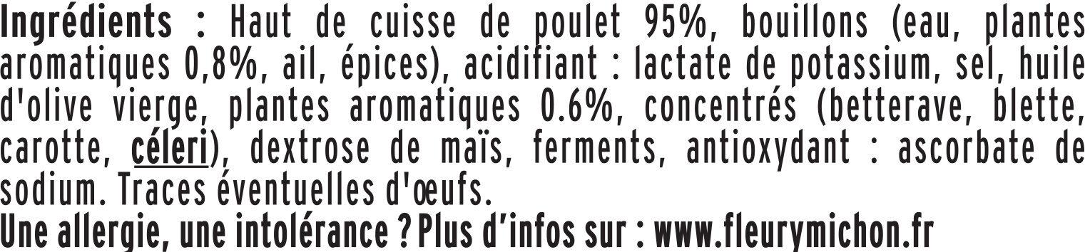 Lamelles de poulet Halal -25% de sel - Ingrédients - fr