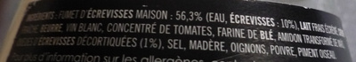 Sauce Nantua au fumet d'écrevisses maison - Ingrediënten - fr