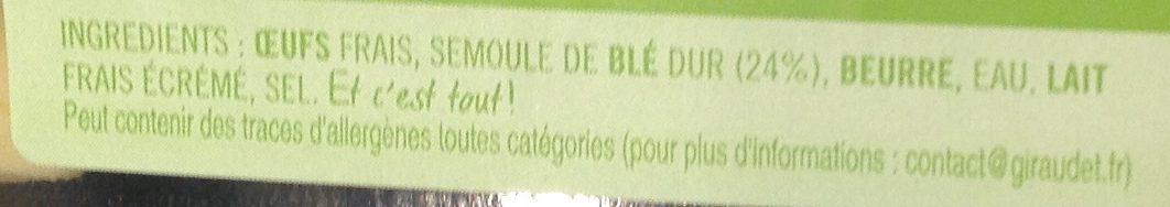 4 Quenelles Fraîches Nature - Ingrédients - fr