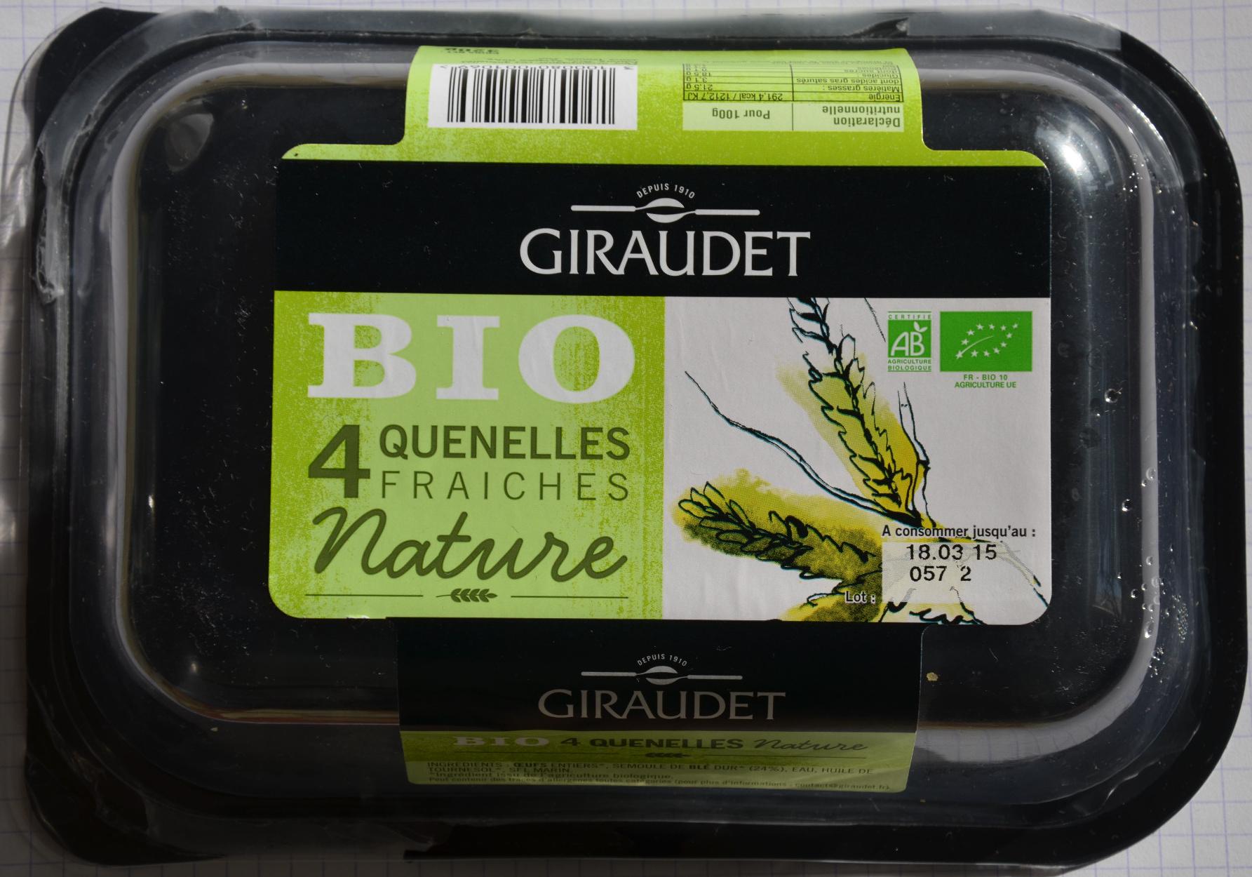 Quatre quenelles fraîches natures bio - Produit - fr