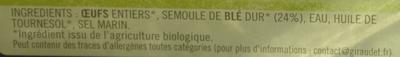 Quatre quenelles fraîches natures bio - Ingrédients - fr