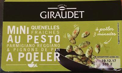 Mini quenelles fraiches au pesto, parmigiano reggiano & pignons de pin à poêler - Produit - fr
