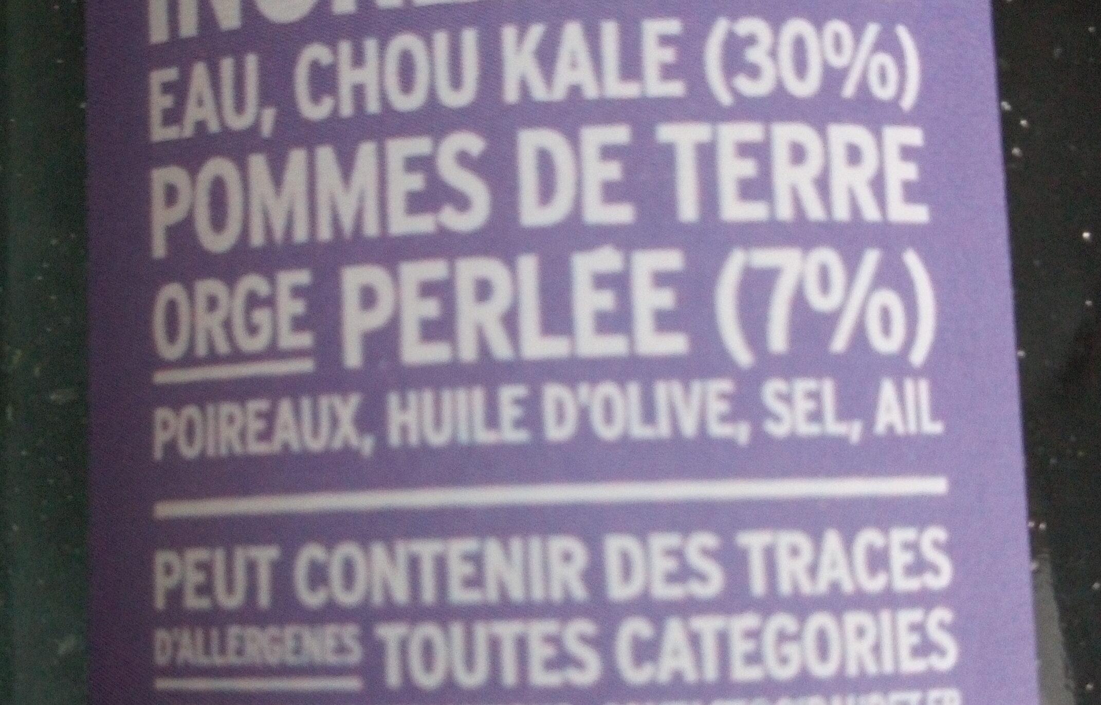 Soupe chou kale orge perlée - Ingredients - fr