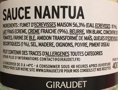 Sauce Nantua - Produit