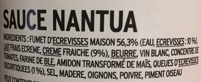 Sauce Nantua - Ingrédients