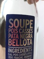 Soupe pois casses pata negra bellota - Product